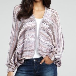Free People Wild World Amethyst Dolman Cardigan